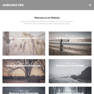 Ambiance Pro Theme Package + Genesis Framework Package